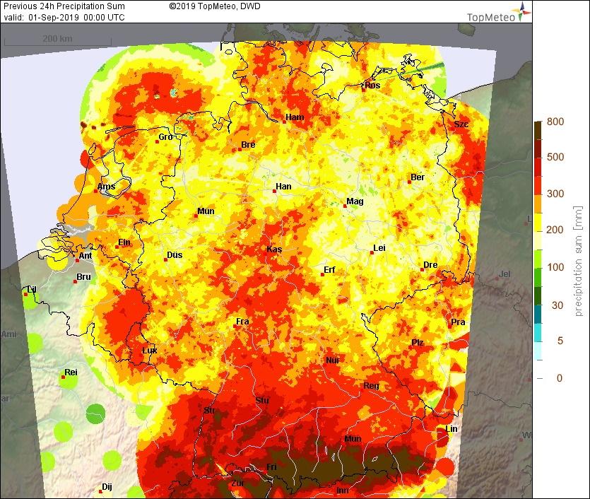 Precipitation and Soaring Climatology in Germany 2019